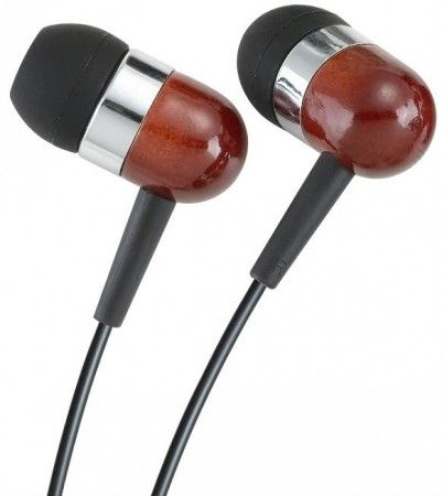 Wooden earplugs / in-ear headphone rosewood