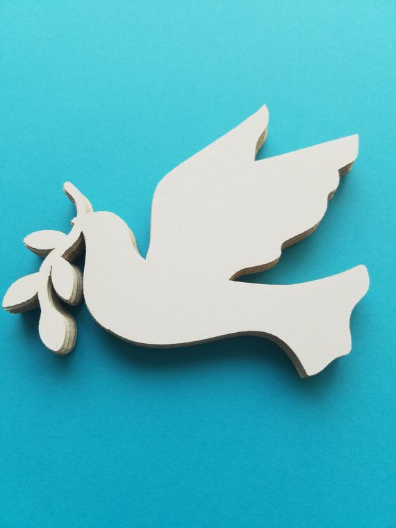 Flying Dove with Olive Branch Die Cut Outs by NightOwlEngravingLLC