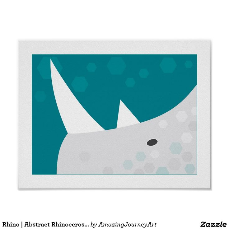 Rhino   Abstract Rhinoceros Wall Art