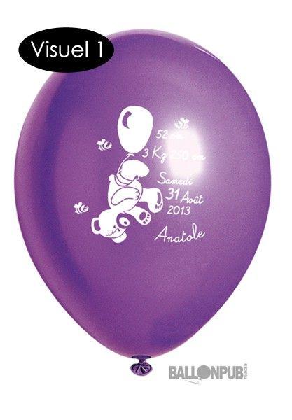 Ballon personnalisé x100 - Naissance - Forfait événement