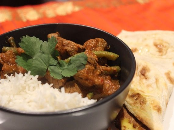 Sri Lankan Lamb with Green Beans using Spice Fusion's Sri Lankan Dark Roasted Curry Blend.