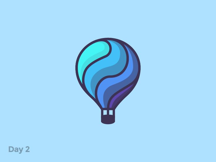Daily Logo 2/50 - Hot Air Balloon by  Pavlo Plakhotia  #Design Popular #Dribbble #shots