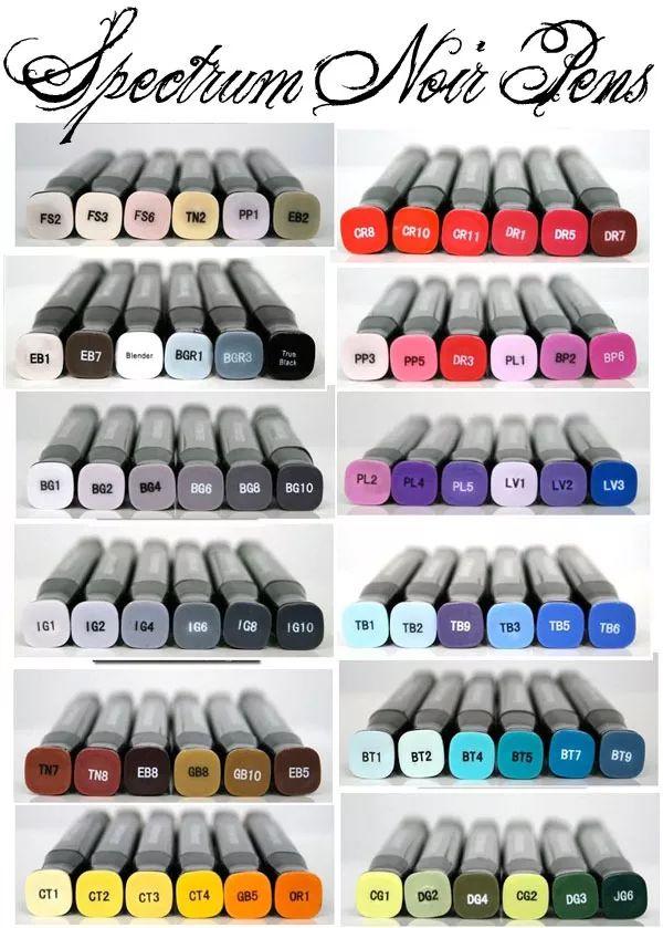 Spectrum Noir Copic Scrapbook Set 6 Marcador Plumon Colores - $ 340.00 en Mercado Libre