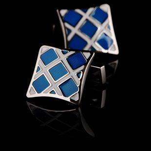 Blue Enamel Base Cufflinks. Zapatos De LujoManillasHombre ... 3a0fad900d4