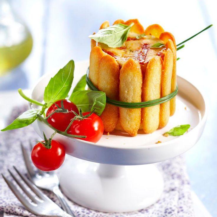 Quiche charlotte tomate-mozzarella, pas cher