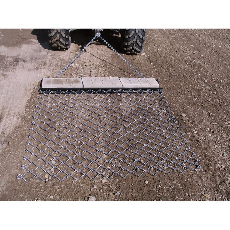 Pull behind your ATV or lawn tractor to prepare and cover seed beds and lawns before and after planting. Also good for leveling playing fields and baseball diamonds.