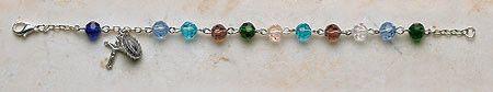 Multi-Colored Rosary Bracelet