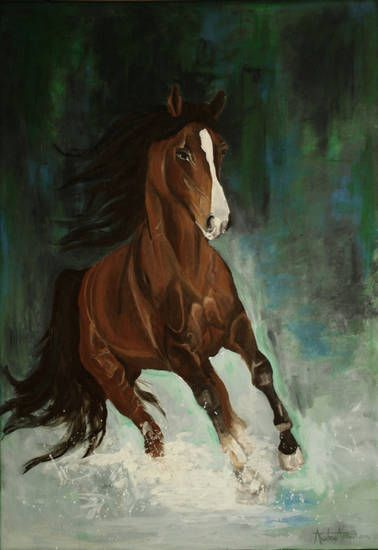Koń, malarstwo, olej