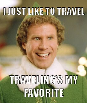 Relateable content. // #christmas #elf #travel #vacation