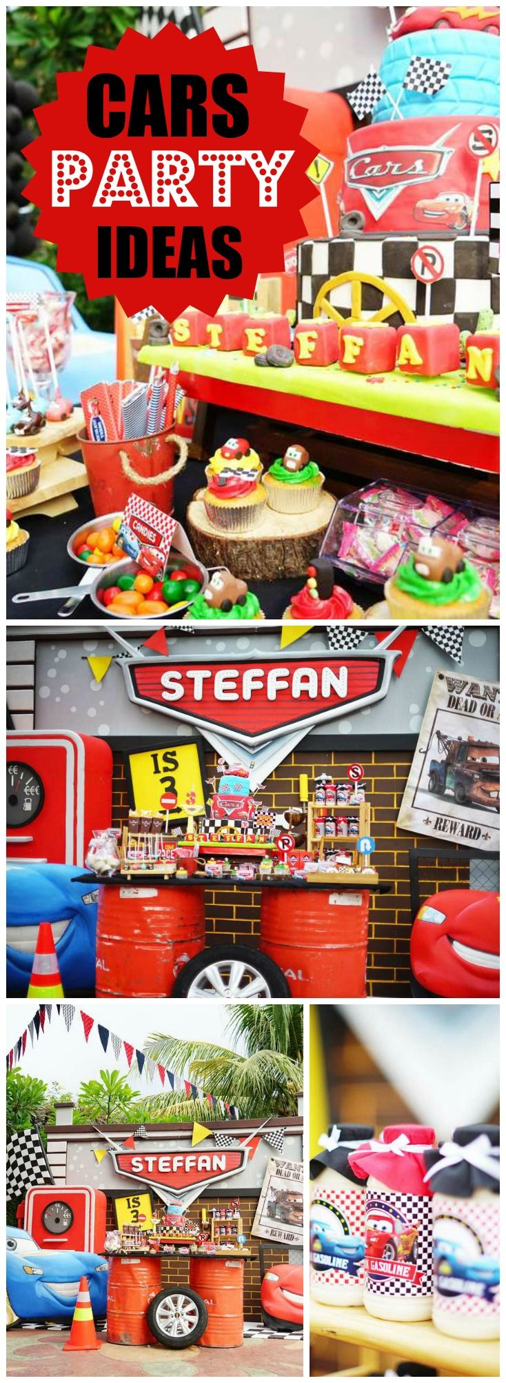 What a cool Cars boy birthday party! See more party ideas at CatchMyParty.com!