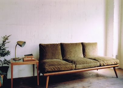 coffeeflavored:    perfect couch and side table combo. japan's oft-blogged-about truck furniture,via hunter gather(er)