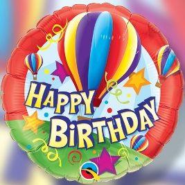 """Happy Birthday Hot Air Balloon"""
