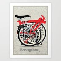 Andy Scullion | Society6 brompton bike