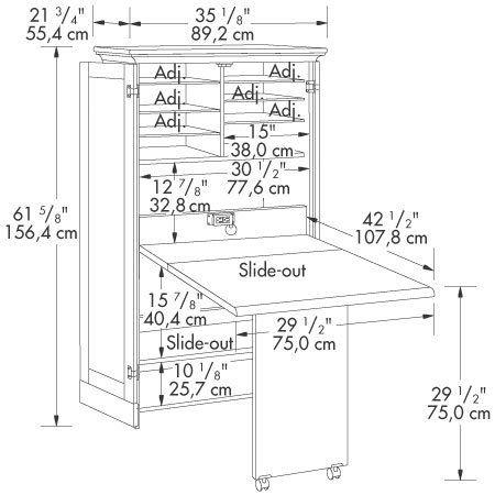 Craft Sewing Machine Cabinet Storage