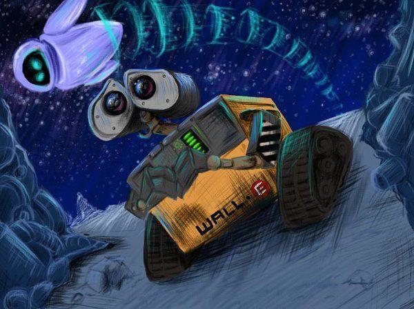 WALL-E and EVE by sharkie19