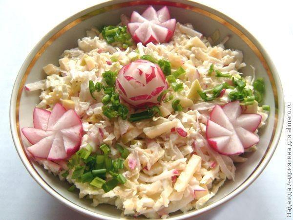 Как приготовить салат поляна из копченой курицы и маоинованных шампиньонов