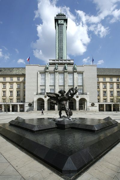 Czech republic,ostrava, nova radnice-new town hall /1925