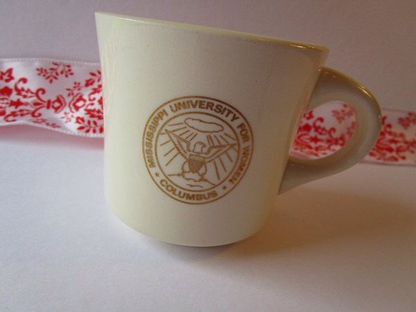 Vintage 'Mississippi University For Women, Columbus', coffee mug. by Kissiana on Etsy https://www.etsy.com/listing/235682101/vintage-mississippi-university-for-women