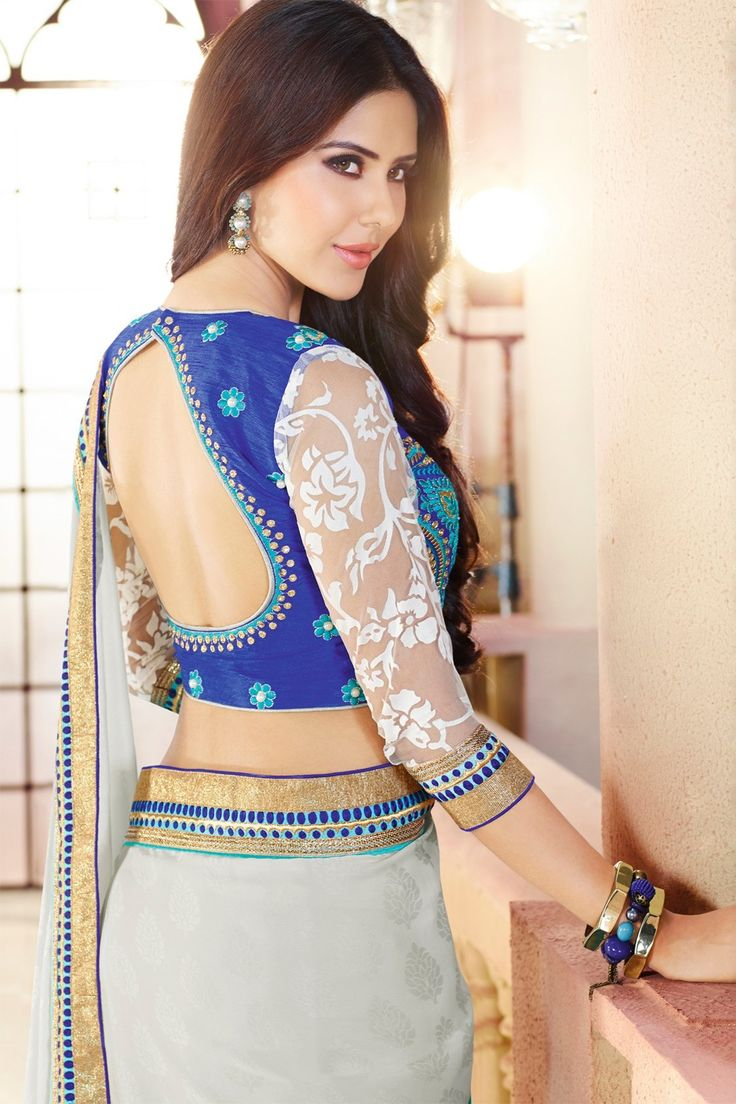 Designer Turquoise Three Shaded Saree-Sarees-JDCREATION