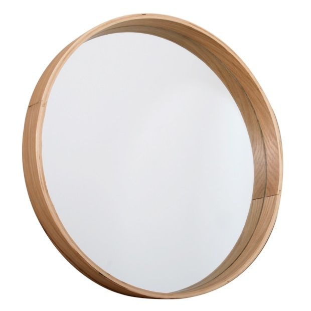 Butik Ronde houten spiegel - Ø 45 cm - afbeelding 1