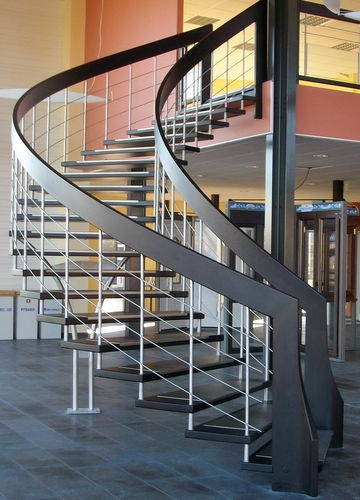 17 best images about escaliers stairs on pinterest wooden steps metals and - Escalier limon lateral ...