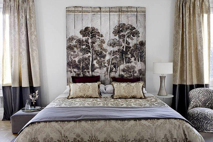 3 cabecercabecera de camaos de cama de madera DIY muy baratos: Cabecero de madera reciclada con pintura decorativa