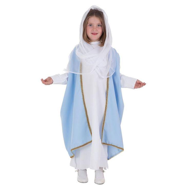 Disfraz de virgen infantil disfraces navidad infantiles - Disfraces infantiles navidad ...