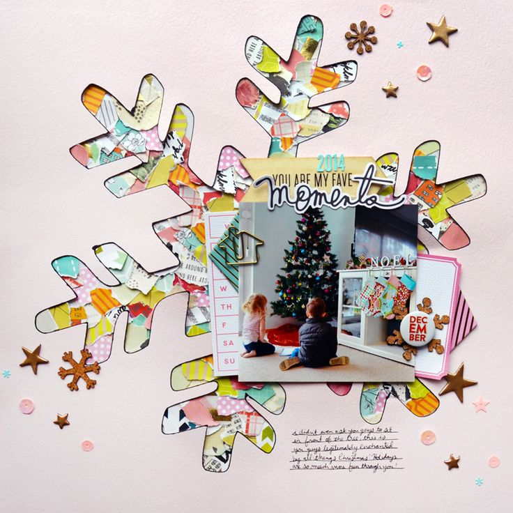 Moments scrapbook layout by Paige Evans