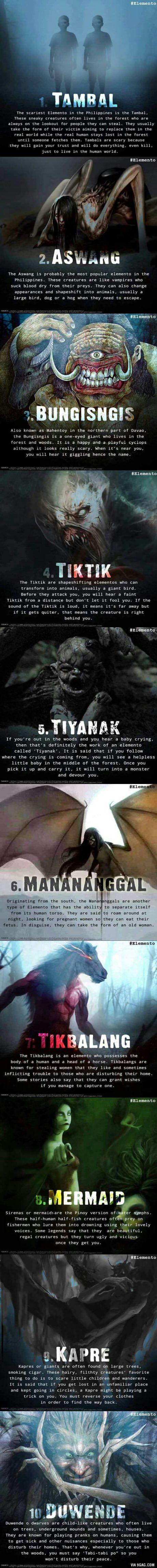 Top ten elemental spirits in the Philippines