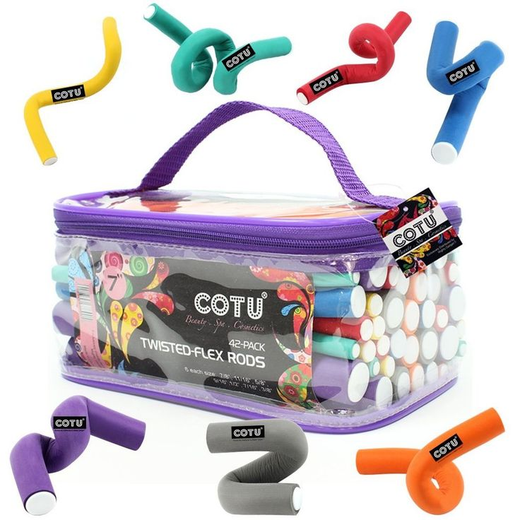 42 Pack of Professional Foam Flexi Rods for Curly Hair by COTU Easy To Use  #COTU