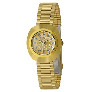 Rado Women's 'Original' Gold Plated Stainless Steel Swiss Automatic Watch | Overstock.com Shopping - The Best Deals on Rado