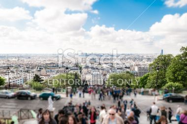 Paris city centre top view Royalty Free Stock Photo