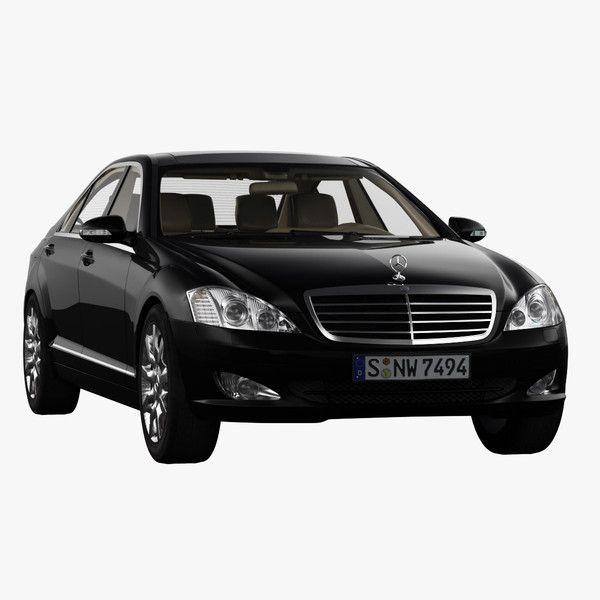 3d model mercedes s merc - Mercedes S600