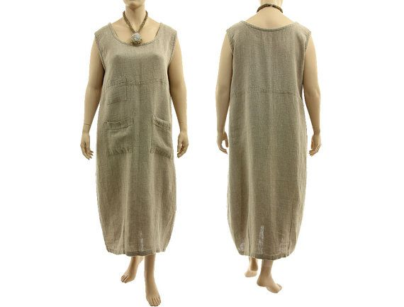 Maxi linen tank dress long linen summer dress in von classydress