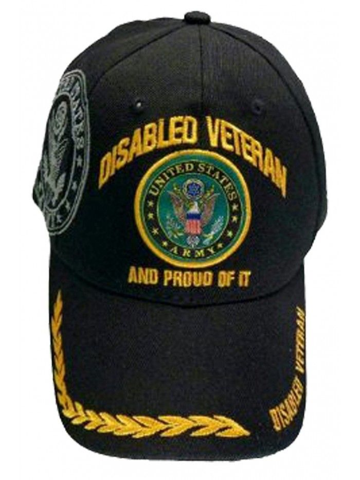 351534e016f Disabled Veteran US ARMY Baseball Cap Black Logo Hat Proud of It Golden  Wreath - CS11KW02ATN - Hats   Caps