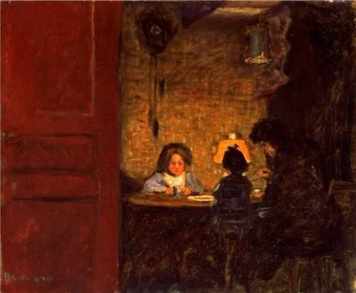 The Evening Meal - Pierre Bonnard, 1903  French. 1867-1947  Oil on canvas, 37,4 x 45,5 cm.