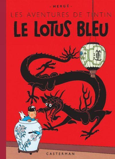Tintin 5/24 (Fac-similé couleurs) Le lotus bleu (first edition in 1936)