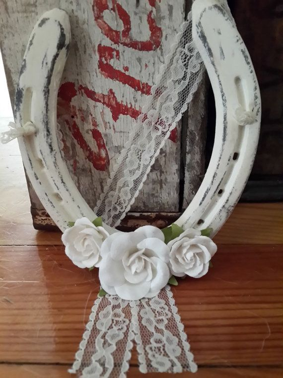 Hey, I found this really awesome Etsy listing at https://www.etsy.com/listing/241983134/horseshoe-shabby-chic-wedding-horseshoe