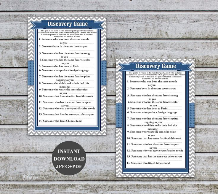Boy Baby Shower Games Boy Printable Baby Shower Discovery Game Instant Download Digital Files PDF (57b) by diymyparty on Etsy