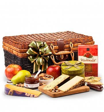 Artisan Fruit and Cheese Hamper: Gourmet Gift Baskets - Luscious fruit and creamy cheeses to satisfy and impress.