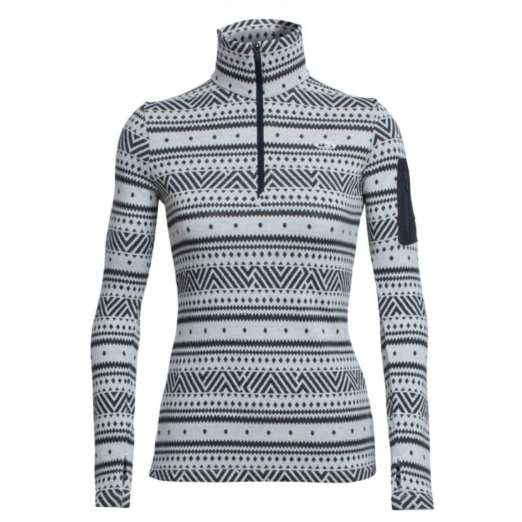 Vertex LS Half Zip Icon Fairisle dametrøje