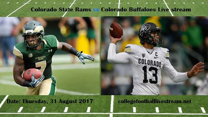 Colorado State Rams vs Colorado Buffaloes Live stream Teams: Rams vs Buffaloes Time: TBA Date: Friday, 1 September 2017 Location: Sports Authority Field, Denver TV:ESPN NETWORK Watch College Football Live Streaming Online  The Colorado State Rams team is another college football team in the...