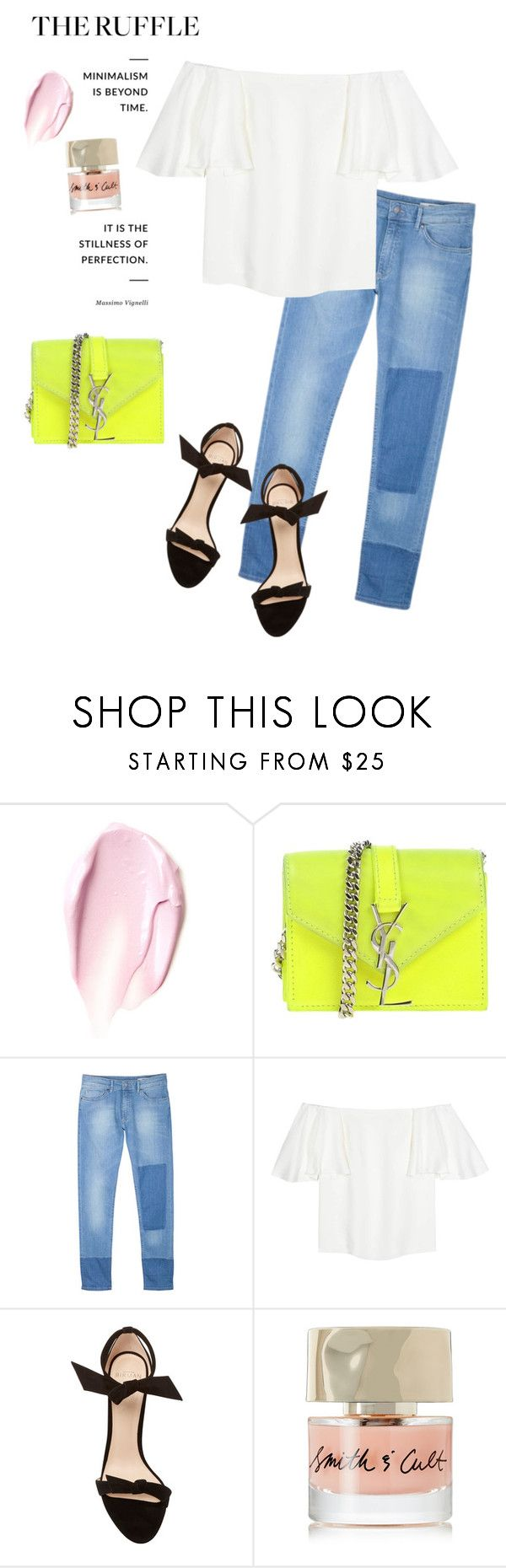 """""""Stranger Than Fiction"""" by space-buns ❤ liked on Polyvore featuring CC, Yves Saint Laurent, Valentino, Barneys New York, Alexandre Birman and Smith & Cult"""