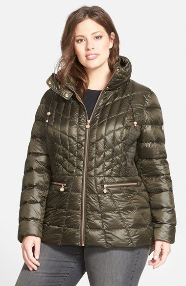 Bernardo Packable Jacket with Down & PrimaLoft® Fill (Plus Size) available at #Nordstrom