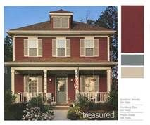 red exterior house color combinations - Bing Images