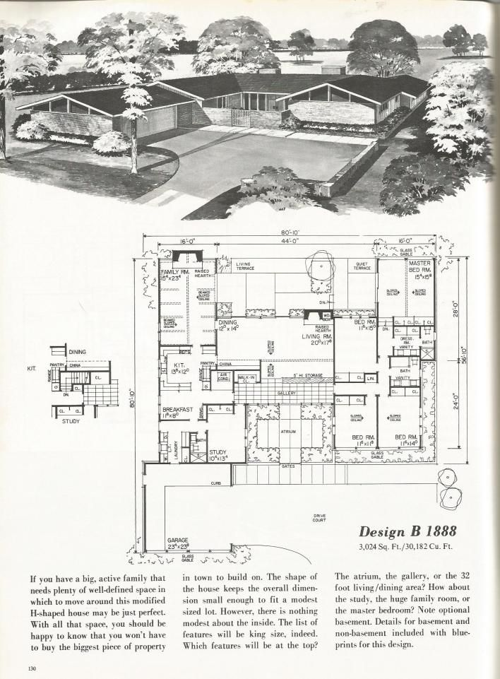 2514 best floor plans images on pinterest floor plans for Vintage home floor plans