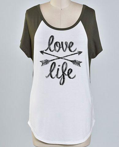 """""""Love Life"""" Tee"""