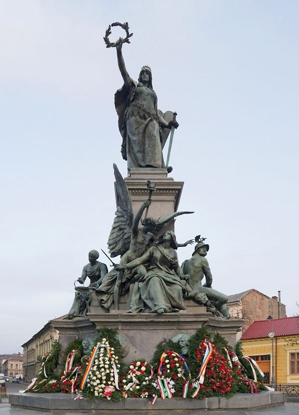Arad city - Liberty monument dedicated to the 13 executed generals who opposed Austrian empire occupation in Transylvania