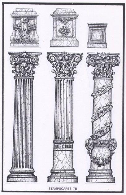 Greco Roman columns.