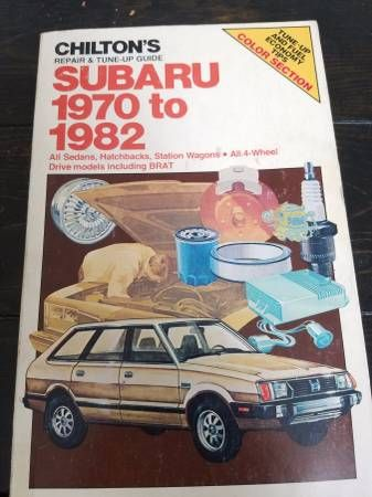 Chilton manual for 1970-1982 Subarus